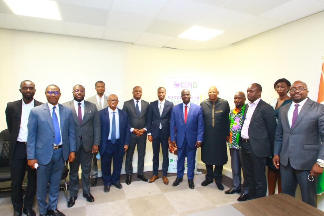 Audience à la délégation du patronat et du Ministère guinéen de l'industrie